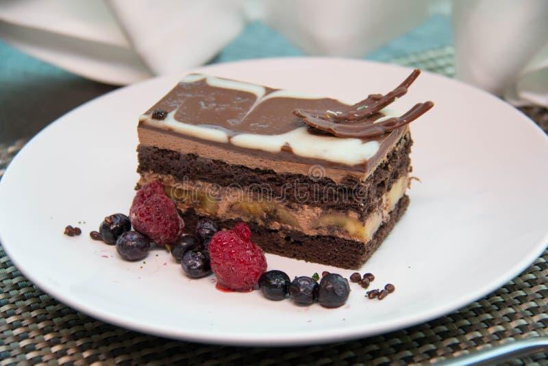 Κέικ μπανανών σοκολάτας στοκ εικόνα