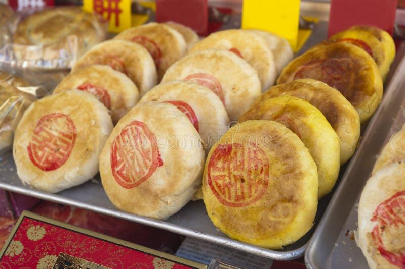 Κέικ παραδοσιακού κινέζικου στοκ εικόνες