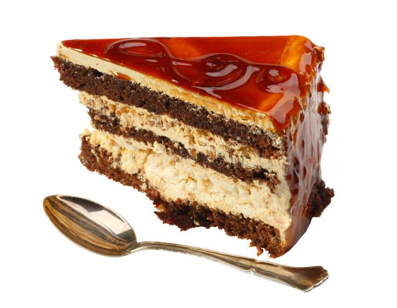 κέικ που βάζουν σε στρώσ&epsilo στοκ εικόνες