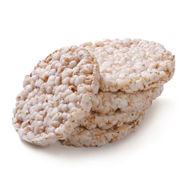 Κέικ ρυζιού που απομονώνονται στο λευκό στοκ φωτογραφία με δικαίωμα ελεύθερης χρήσης