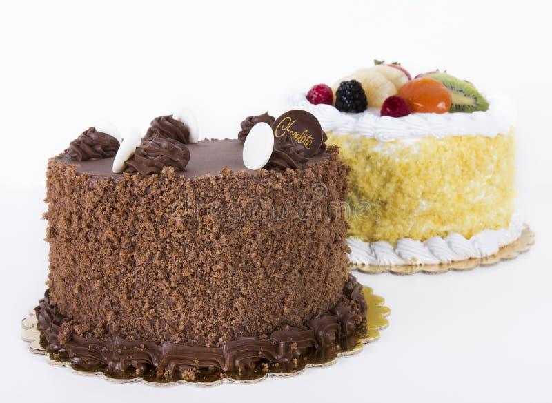 Κέικ σοκολάτας και καρπού στοκ φωτογραφία