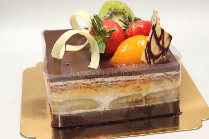Κέικ σοκολάτας μπανανών στοκ εικόνα με δικαίωμα ελεύθερης χρήσης
