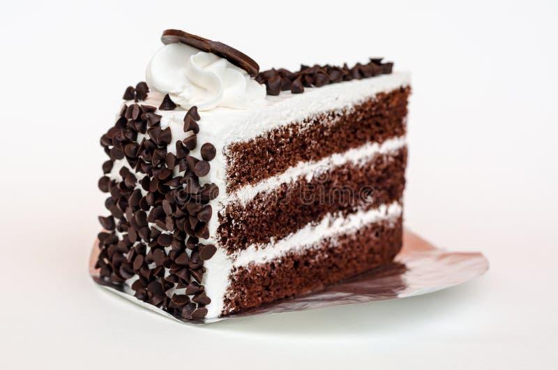 Κέικ στρώματος τσιπ σοκολάτας φραγμών γάλακτος στοκ φωτογραφία με δικαίωμα ελεύθερης χρήσης