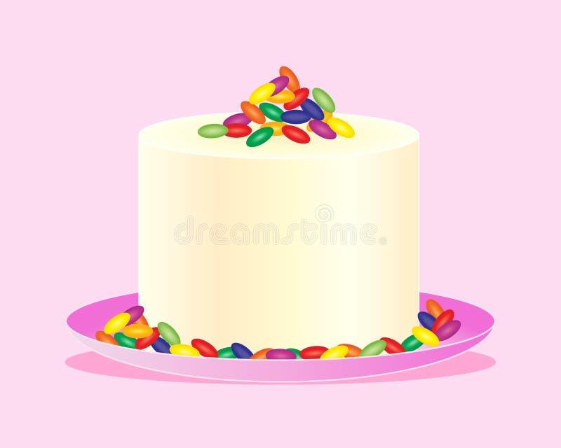 Κέικ φασολιών ζελατίνας απεικόνιση αποθεμάτων