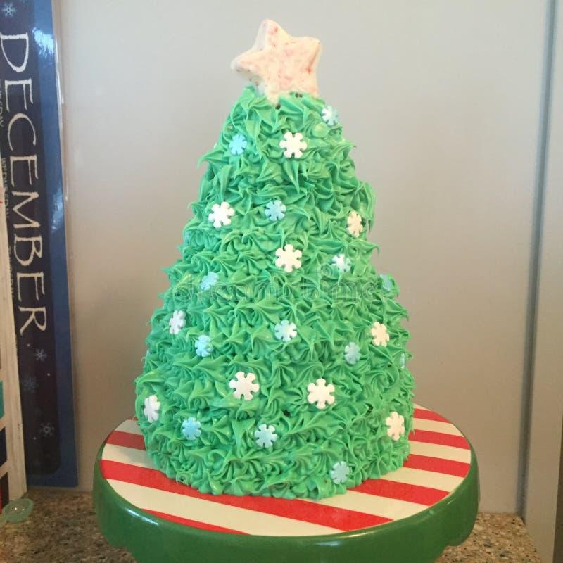 Κέικ χριστουγεννιάτικων δέντρων στοκ φωτογραφία