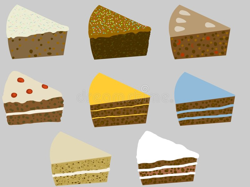 κέικ διανυσματική απεικόνιση