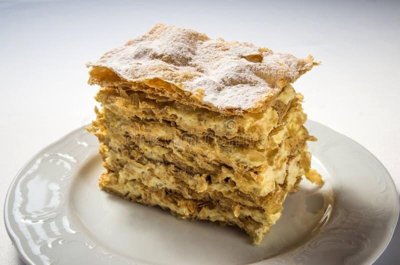Κέικ Napoleon στοκ εικόνα