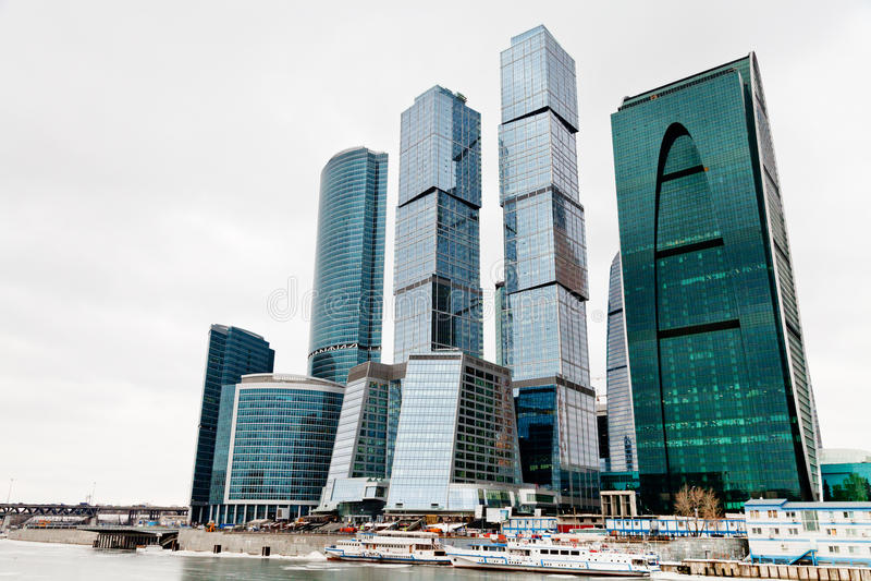 Κέντρο γραφείων πόλεων της Μόσχας στοκ φωτογραφία με δικαίωμα ελεύθερης χρήσης