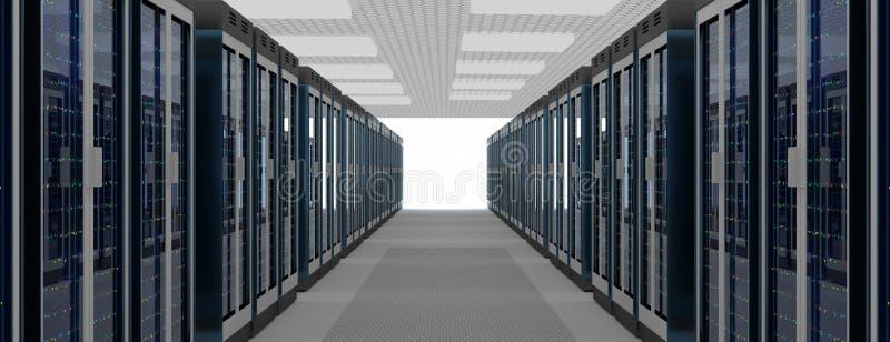 Κέντρο δεδομένων δωματίων κεντρικών υπολογιστών Εφεδρική, η φιλοξενία, ο κεντρικός υπολογιστής, το αγρόκτημα και ο υπολογιστής βα απεικόνιση αποθεμάτων