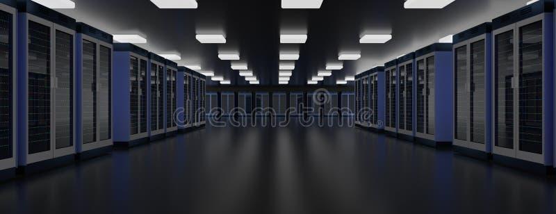 Κέντρο δεδομένων δωματίων κεντρικών υπολογιστών Συστάδα υλικού Datacenter Εφεδρικός, φιλοξενία, κεντρικός υπολογιστής, αγροτικό ρ διανυσματική απεικόνιση