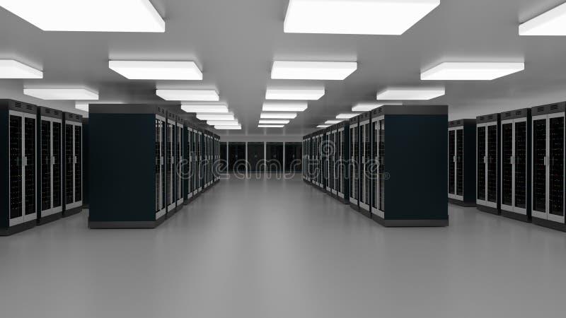 Κέντρο δεδομένων δωματίων κεντρικών υπολογιστών Συστάδα υλικού Datacenter Εφεδρικός, φιλοξενία, κεντρικός υπολογιστής, αγροτικό ρ απεικόνιση αποθεμάτων