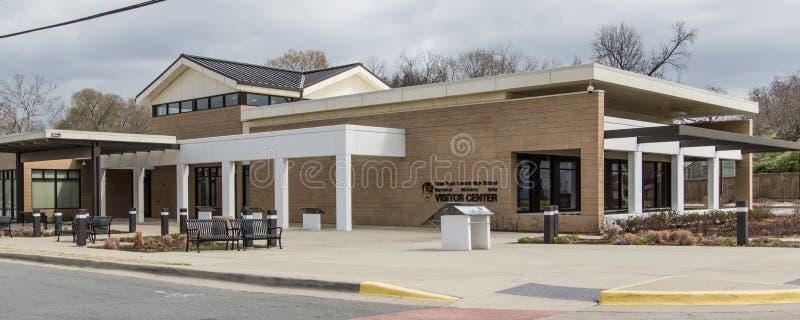 Κέντρο επισκεπτών γυμνασίου Λιτλ Ροκ στοκ εικόνα