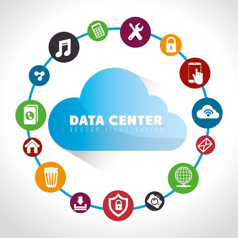 Κέντρο δεδομένων και φιλοξενία ελεύθερη απεικόνιση δικαιώματος