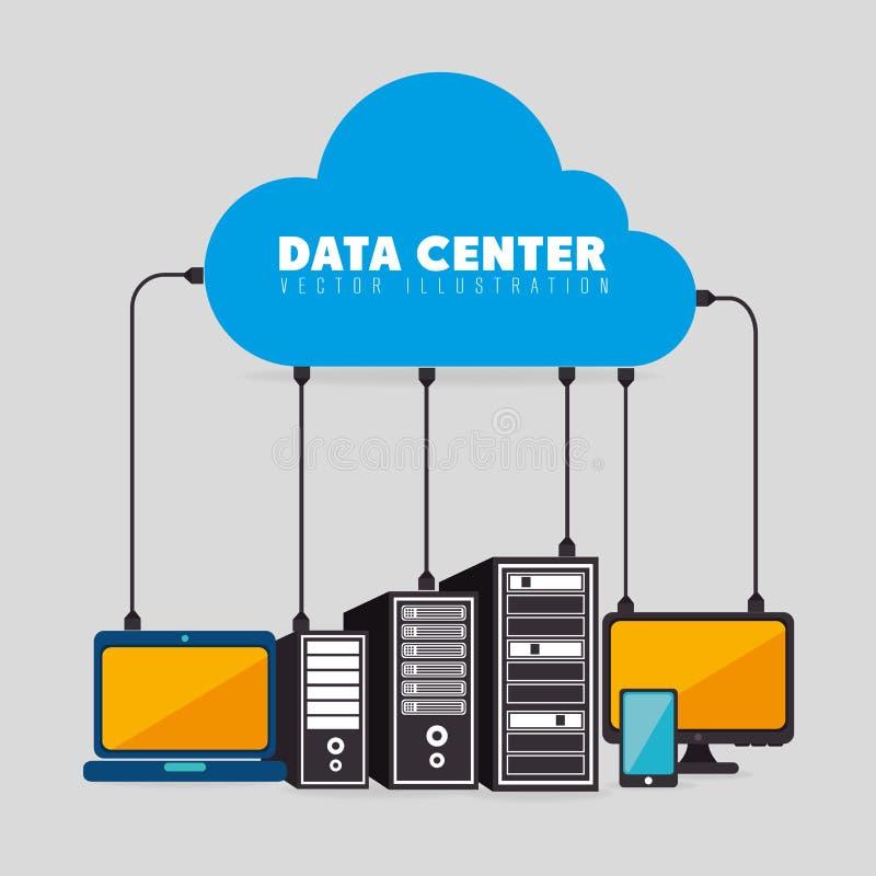 Κέντρο δεδομένων και φιλοξενία διανυσματική απεικόνιση