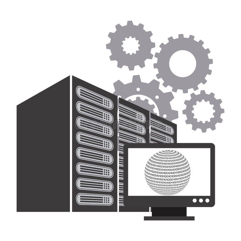 Κέντρο δεδομένων ελεύθερη απεικόνιση δικαιώματος
