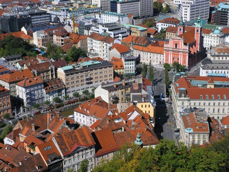κέντρο Λουμπλιάνα S Στοκ φωτογραφία με δικαίωμα ελεύθερης χρήσης