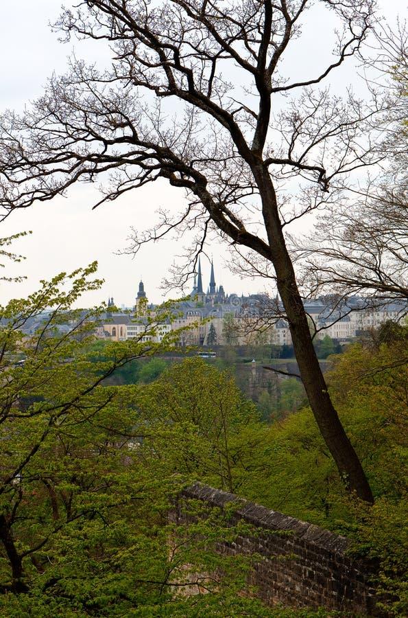 Κέντρο λουξεμβούργιων πόλεων οριζόντων στοκ φωτογραφίες