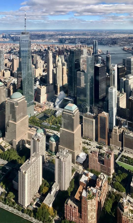Κέντρο Παγκόσμιου Εμπορίου της Νέας Υόρκης στοκ φωτογραφία με δικαίωμα ελεύθερης χρήσης