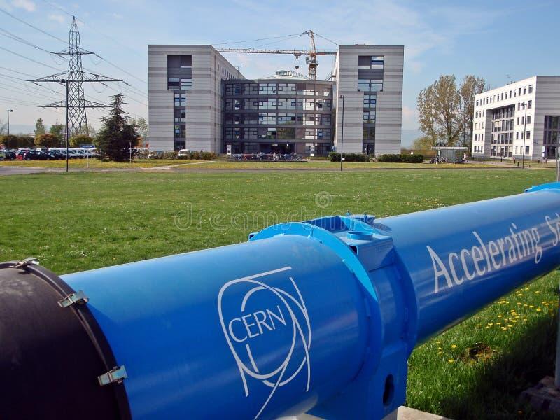 ΚΈΝΤΡΟ ΠΥΡΗΝΙΚΏΝ ΜΕΛΕΤΏΝ ΚΑΙ ΕΡΕΥΝΏΝ (CERN) LHC στοκ φωτογραφία