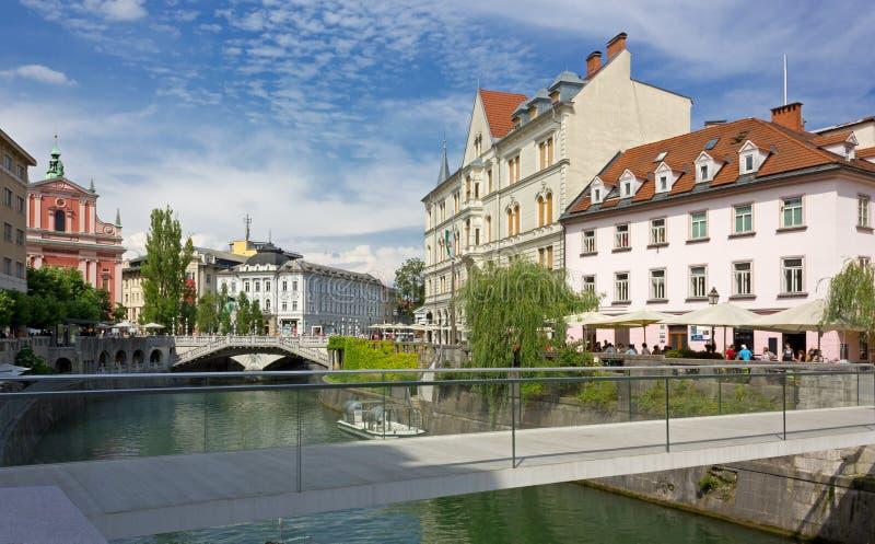 Κέντρο πόλεων του Λουμπλιάνα στοκ φωτογραφία με δικαίωμα ελεύθερης χρήσης
