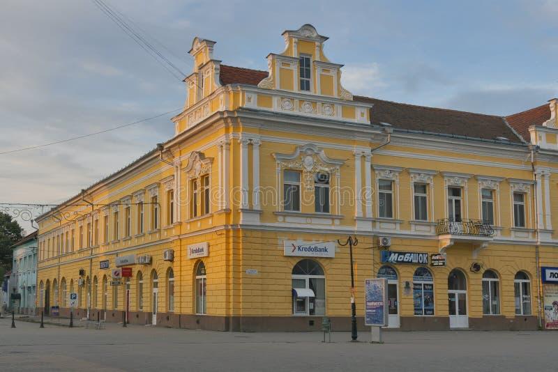 Κέντρο πόλεων Berehove Zakarpattia, Ουκρανία στοκ φωτογραφίες