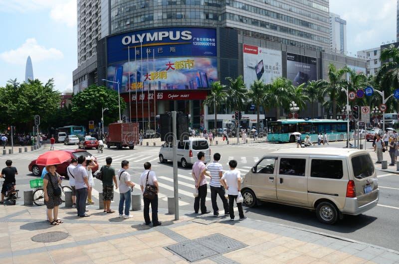 Κέντρο πόλεων Shenzhen στοκ φωτογραφίες