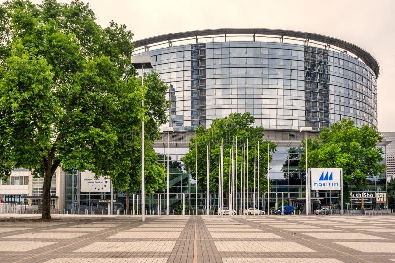 Κέντρο συνεδρίων Messe στη Φρανκφούρτη Αμ Μάιν στοκ φωτογραφία