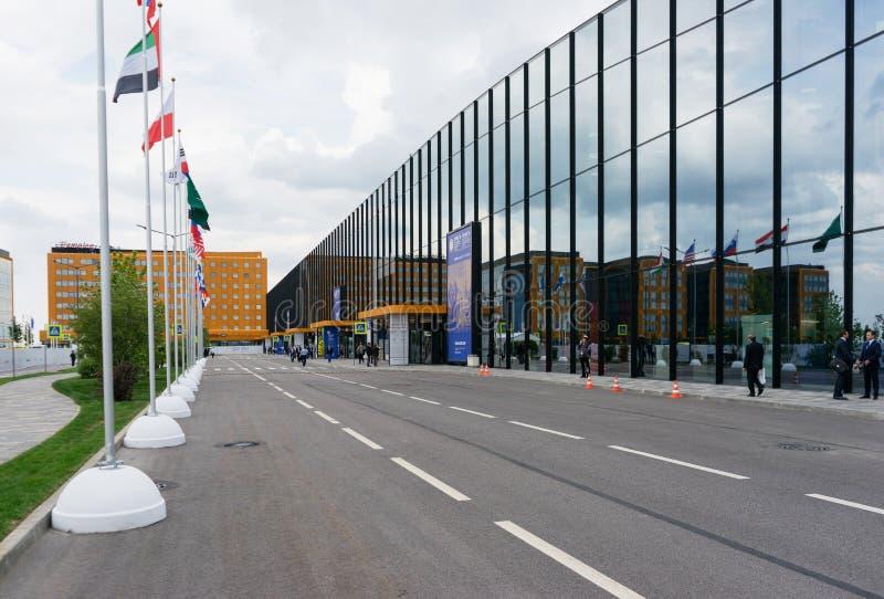 Κέντρο Συνθηκών και έκθεσης ExpoForum στη Ρωσία, Άγιος-Πετρούπολη στοκ εικόνες με δικαίωμα ελεύθερης χρήσης