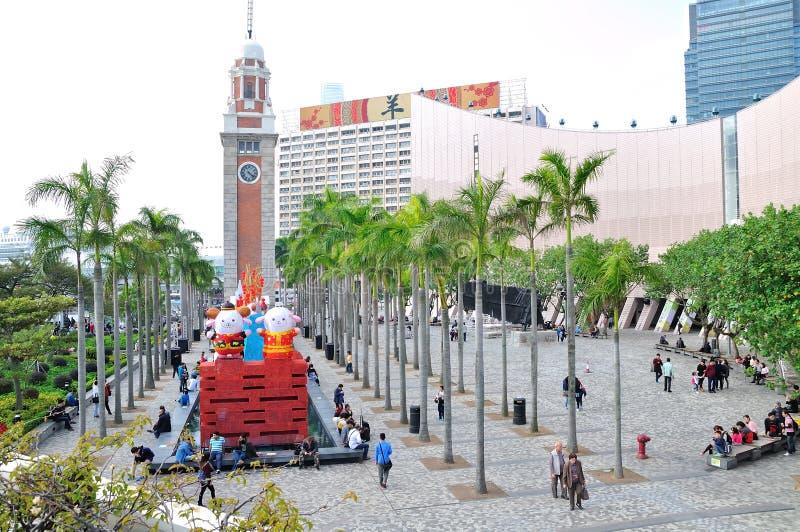 Κέντρο τεχνών του Χογκ Κογκ και πύργος κουδουνιών στοκ εικόνα με δικαίωμα ελεύθερης χρήσης