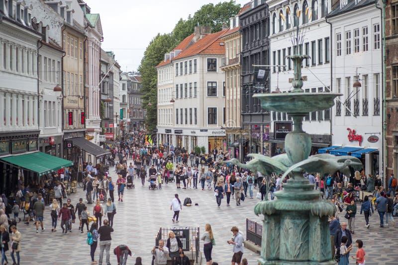 Κέντρο της πόλης της Κοπεγχάγης στοκ εικόνες