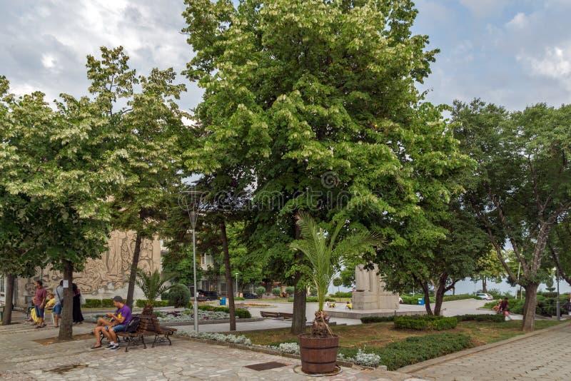 Κέντρο της πόλης Tsarevo, περιοχή Burgas, της Βουλγαρίας στοκ εικόνα με δικαίωμα ελεύθερης χρήσης