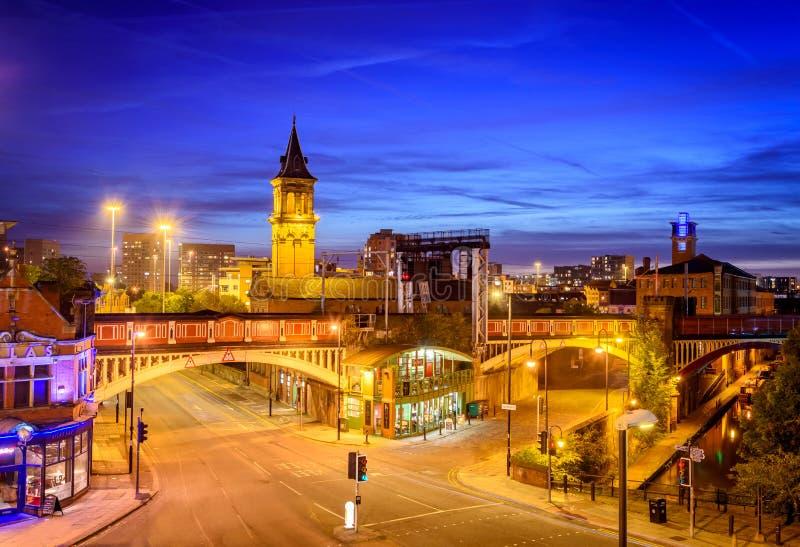 Κέντρο της πόλης Αγγλία του Μάντσεστερ στοκ εικόνες με δικαίωμα ελεύθερης χρήσης