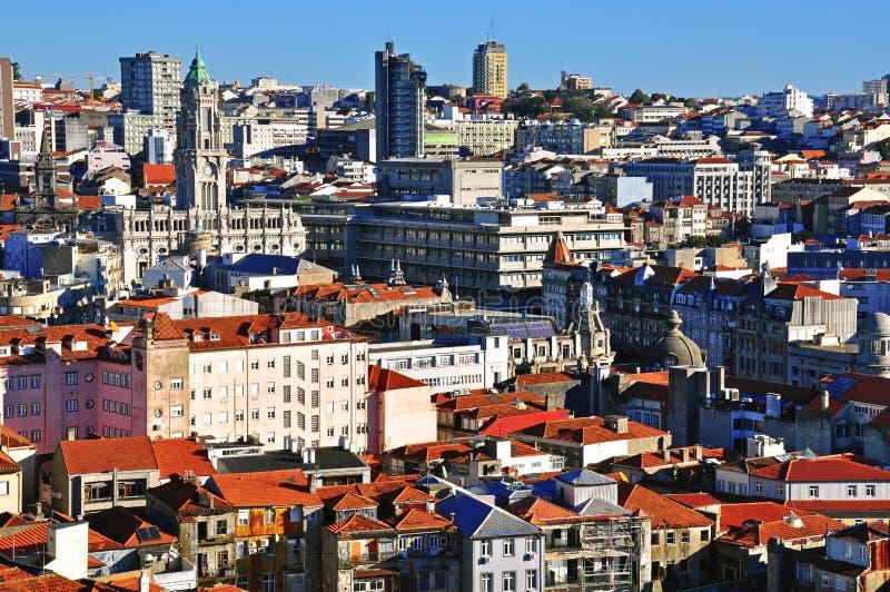 Κέντρο της πόλης του Οπόρτο στοκ φωτογραφίες