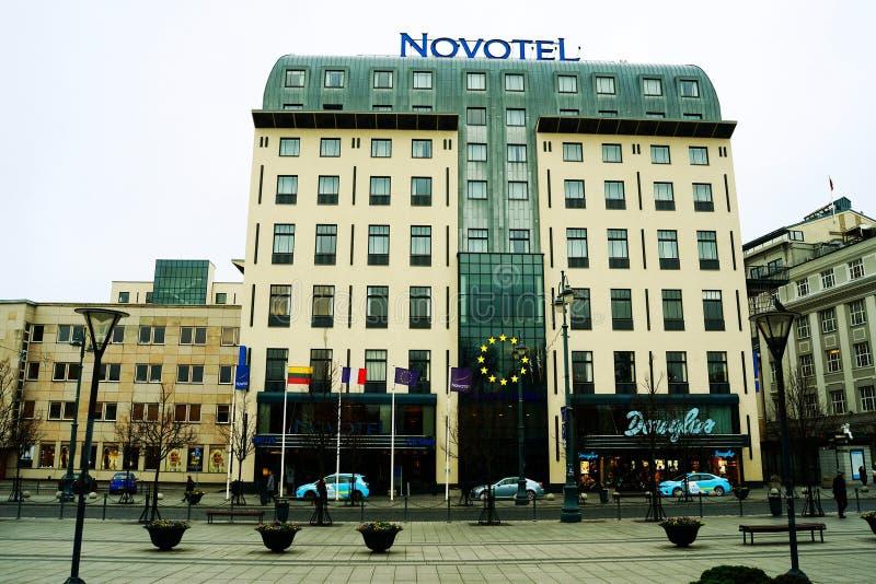 Κέντρο της πόλης Vilnius στο χρόνο φθινοπώρου στις 14 Νοεμβρίου 2014 στοκ φωτογραφία με δικαίωμα ελεύθερης χρήσης