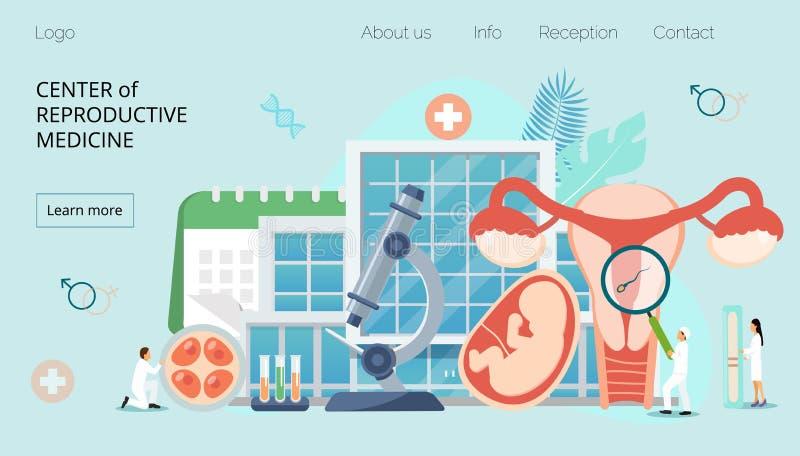 Κέντρο της reproducrive ιατρικής ελεύθερη απεικόνιση δικαιώματος