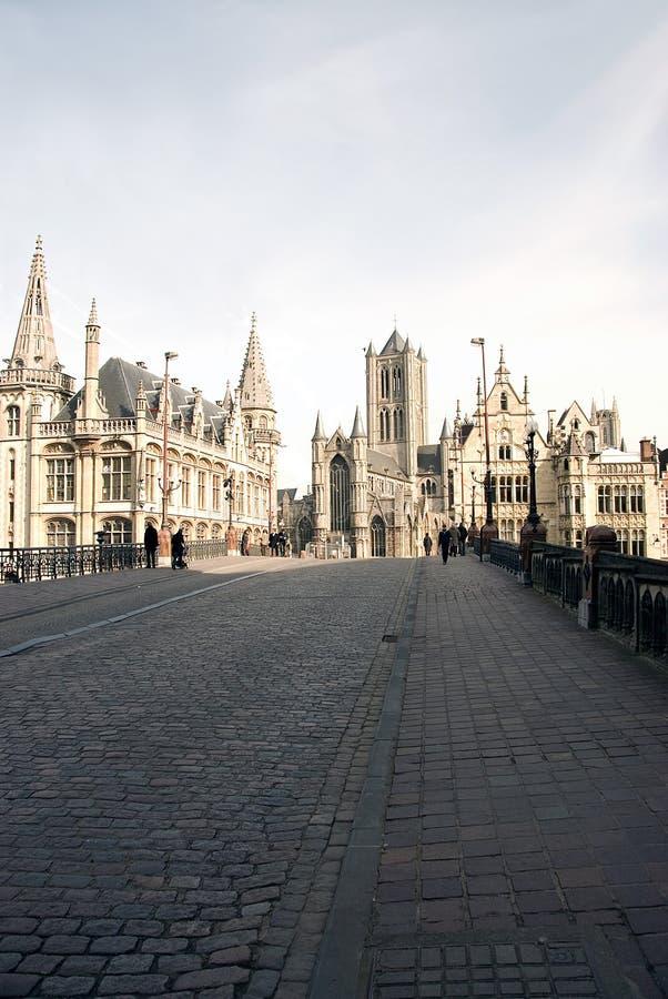 κέντρο του Βελγίου gent στοκ φωτογραφία