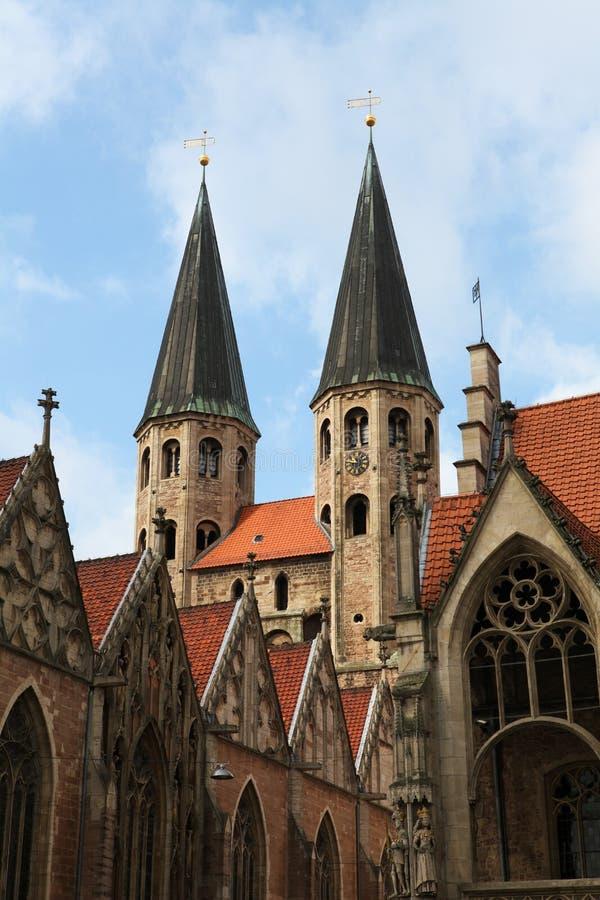 κέντρο του Braunschweig ιστορικό στοκ φωτογραφία με δικαίωμα ελεύθερης χρήσης