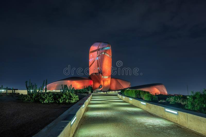 Κέντρο Abdulaziz βασιλιάδων για την πόλη Ithra παγκόσμιου πολιτισμού: Dammam, χώρα: Σαουδική Αραβία στοκ φωτογραφίες