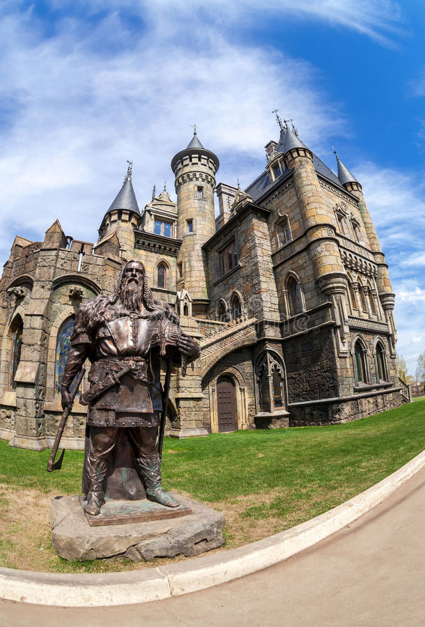 Κέντρο Castle Garibaldi τουριστών στην περιοχή της Samara, της Ρωσίας στοκ φωτογραφίες με δικαίωμα ελεύθερης χρήσης
