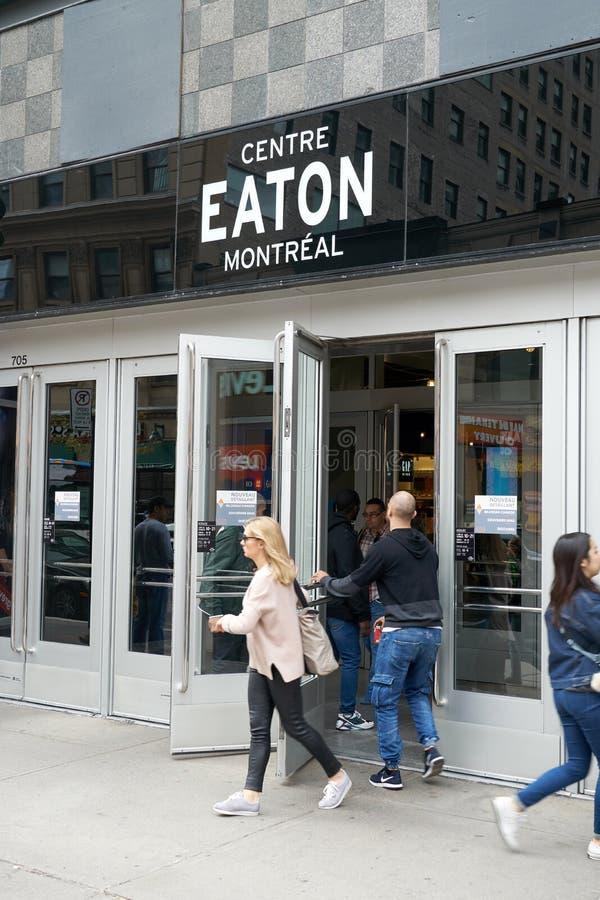 Κέντρο Eaton στο Μόντρεαλ στοκ φωτογραφία