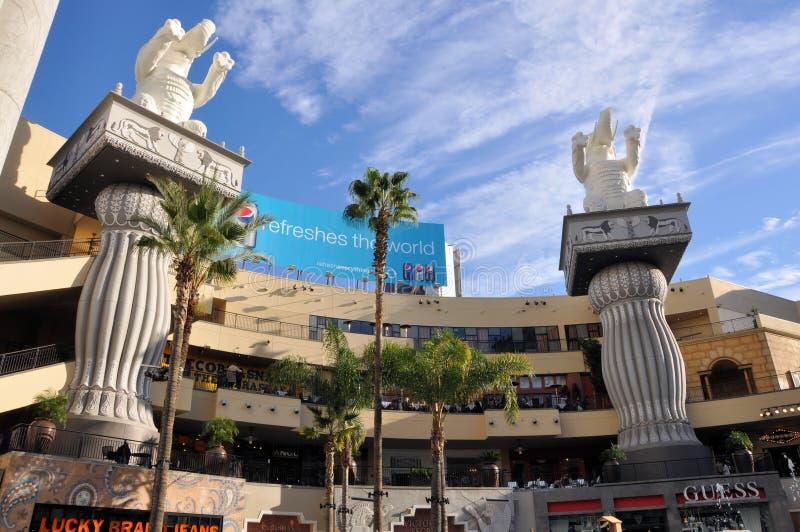 κέντρο hollywood που ψωνίζει στοκ φωτογραφία