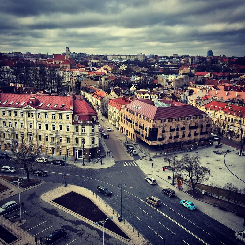 Κέντρο Vilniuse, Λιθουανία στοκ εικόνες