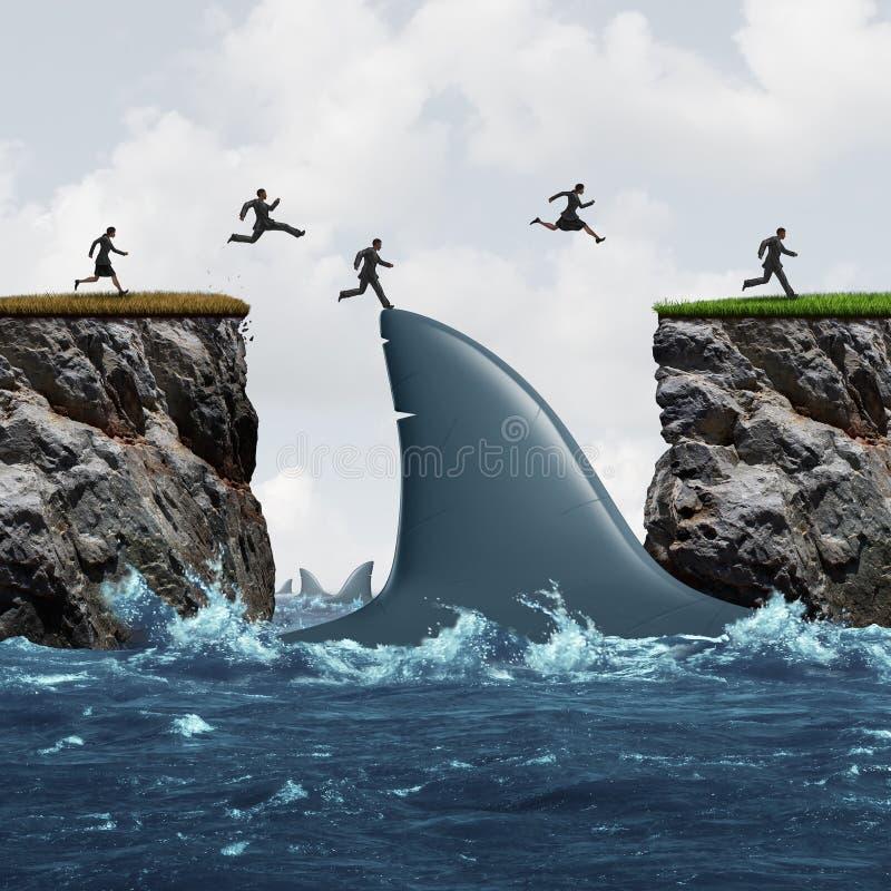 Κέρδος από τον κίνδυνο διανυσματική απεικόνιση