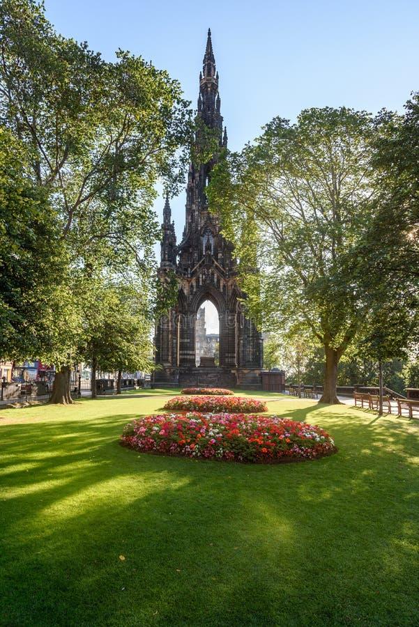 Κήποι Εδιμβούργο, Σκωτία, UK οδών πριγκήπων στοκ εικόνα με δικαίωμα ελεύθερης χρήσης
