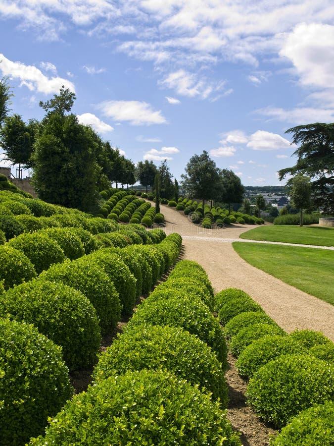 κήποι κάστρων του Amboise στοκ εικόνες