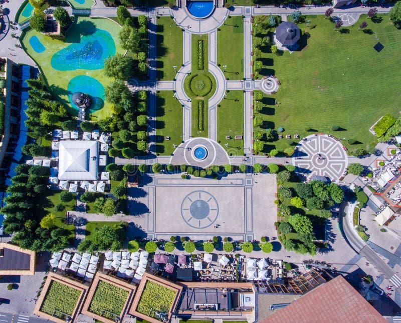 Κήποι κέντρων της πόλης Iasi, Μολδαβία, Ρουμανία στοκ εικόνες