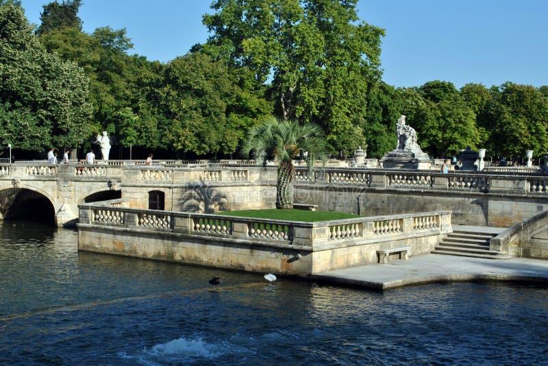 Κήποι πηγών Νιμ - Jardins de Λα Fontaine στοκ φωτογραφίες με δικαίωμα ελεύθερης χρήσης