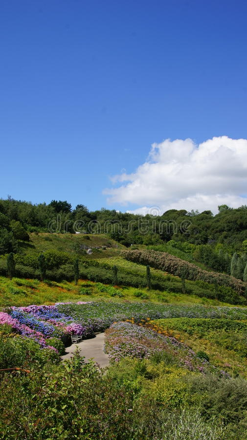 Κήποι προγράμματος Ίντεν στο ST Austell Κορνουάλλη στοκ φωτογραφία με δικαίωμα ελεύθερης χρήσης