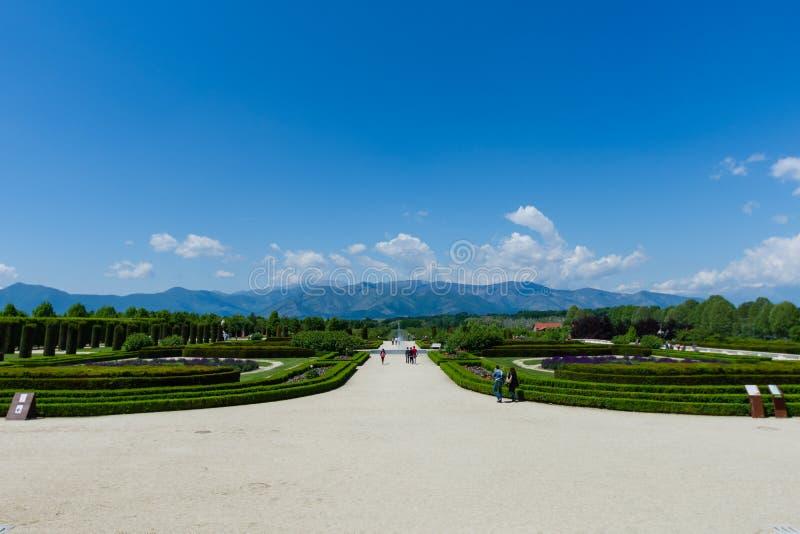 Κήποι του παλατιού Venaria, Τορίνο στοκ εικόνα