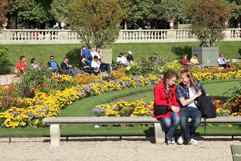 Κήποι του Παρισιού - του Λουξεμβούργου στοκ εικόνες